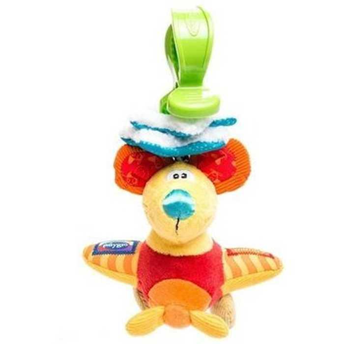 Playgro Мягкая игрушка-подвеска Мышка 0101148Мягкая игрушка Мышка от фирмы Playgro, обязательно понравится вашему малышу. Игрушка имеет удобное колечко, чтобы можно было прикрепить ее к сидению, коляске или кроватке. Когда малыш тянет ее вниз, мышка начинает вибрировать, возвращаясь в исходное положение. Внутри подвески имеется погремушка, которая весело озвучит игру ребенка с ней. Игрушка уже с первых дней покажет, насколько она полезна, ведь она поможет развить все чувства: моторику, зрительную координацию, слух, а также причинно-следственные связи<br>