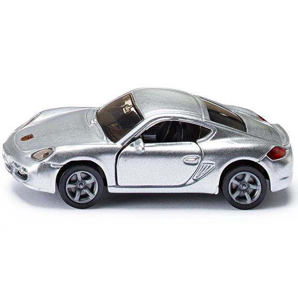 Порше КайманИгрушечная модель Porsche Cayman, корпус выполнен из металла, лобовое и заднее стёкла из прозрачной тонированной пластмассы, передние двери открываются, колёса выполнены из резины и вращаются, можно катать.Размер упаковки: 98 x 78 мм<br>