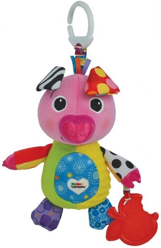 Игрушка-подвеска Поросенок ОллиИгрушка-подвеска предназначена для маленьких детей. Мягкая игрушка выглядит очень ярко. К ней прикреплен мягкий прорезыватель, который поможет детям чесать десна во время прорезания зубов. Игрушка издает звуки, что очень веселит детей и поднимает им настроение даже в самый пасмурный день.<br>