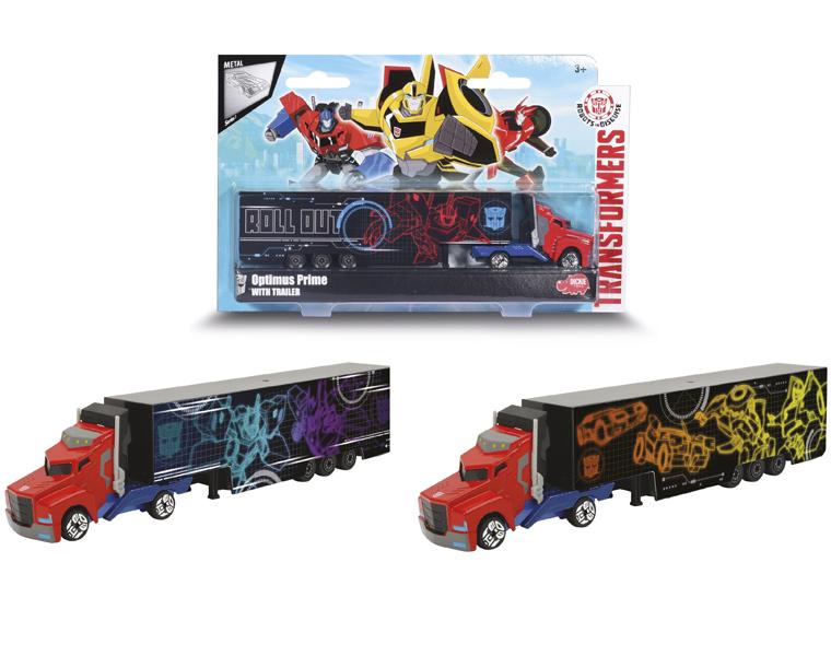 Трейлер Трансформеры - Optimus Prime с прицепом dickie toys машинка transformers optimus prime