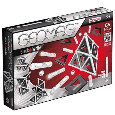 Магнитный конструктор Geomag Panels Black&amp;White 68 деталейСочетание черного и белого цветов – это элегантно и стильно. Базовые оттенки позволят сосредоточиться на конструировании и придумать сложные сооружения, не отвлекаясь на сочетание красок. Магнитный конструктор Geomag Black &amp; White учит не просто создавать комбинации, но и правильно расставлять акценты, выделять главное и делать свою работу уникальной. В комплекте представлено 68 деталей – хромированные шарики из стали, пластиковые палочки и прозрачные панели, добавляющие прочность и объемность. Высокое качество изготовления, износостойкость элементов и полная безопасность для ребенка гарантированы.<br>