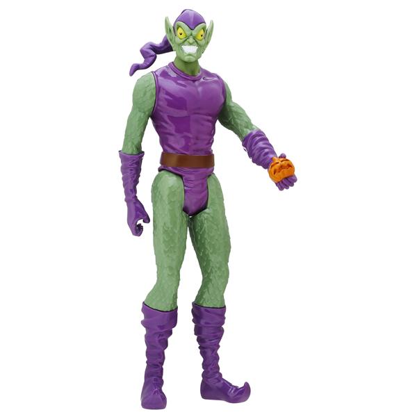 ЧП ТИТАНЫ ЗЛОДЕИ В АССОРТ.В ассортимент Титаны Spider Man входят несколько фигурок из одноименного комикса и мультфильма. В коллекции представлены такие опасные враги Человека-Паука, как:Злобный Зеленый Гоблин в фиолетовом костюме, он держит в руке свою фирменную бомбочку в виде  хэллоуинской тыквы.Один из самых известных противников Человека-Паука - Эдриан Тумс, более известный как Стервятник, одетый в свой костюм с крыльями.Грозный Уильям Бейкер, обладающий сверхчеловеческой силой, известный также как Песочный Человек.Веном - пожалуй, один из самых жутких и устрашающих соперников, обозленный Эдди Брок.Электро, получивший суперспособность после удара молнии.Вы можете собрать целую коллекцию фигурок титанов-суперзлодеев, воспроизводить любимые сцены битв из истории Человека-Паука или придумывать собственные истории.Игрушка представлена в ассортименте, выбранный вариант в поставке не гарантирован. Цена указана за 1 фигурку.<br>