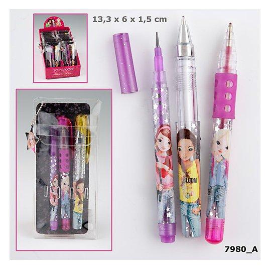 TOPModel небольшой набор мини ручекTOPModel набор мини-ручек и карандашей в футляре - очень удобно всегда носить с собой, ведь они подойдут даже для самой маленькой сумочки! В комплекте карандаш, синяя и красная ручки.Стильная девушка - стильная во всем! Теперь ручка или карандаш всегда под рукой!<br>