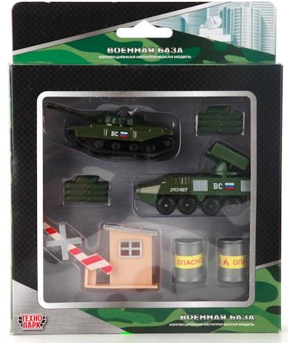Набор Технопарк Военная техника, 2 в 1 набор технопарк строительная техника 1 43