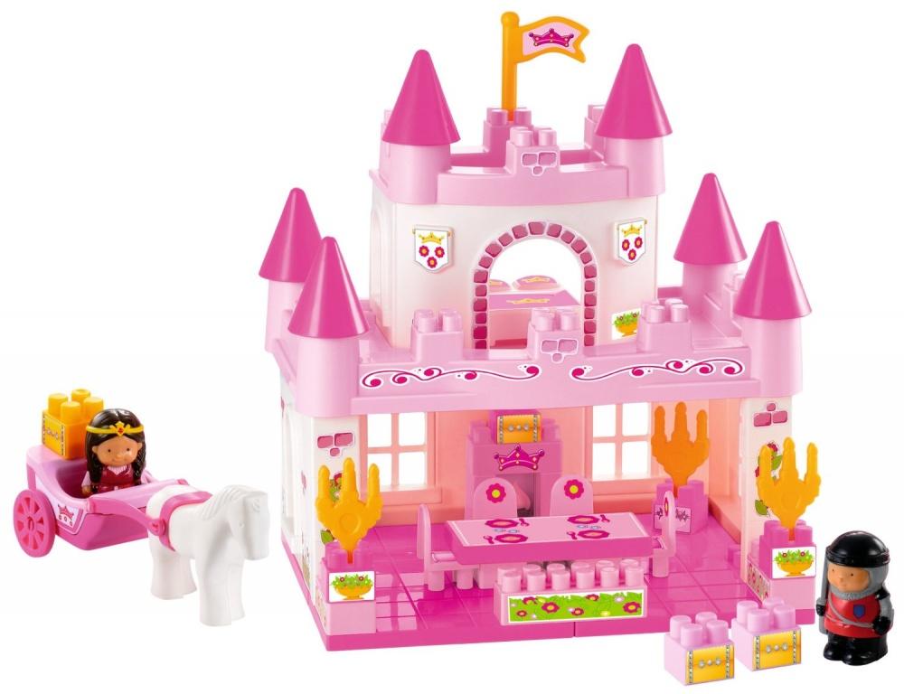 Конструктор Замок принцессы, 59 деталейНабор игровой – конструктор «Замок принцессы» Ecoiffier, 3078. Такой конструктор понравится любой юной принцессе. Ведь благодаря конструктору, можно создать замок для принцессы.Конструктор состоит из 59 предметов, благодаря которым можно построить и обустроить розовый двухэтажный дворецНа первом этаже дворца можно сделать каминный зал, где будет стоять камин, стулья и большой стол. На втором этаже находится спальня.В набор, кроме мебели, входят две фигурки – принцесса и рыцарь, а также карета, запряженная лошадью. Теперь принцесса может посещать балы в других королевствах. Играя, ребёнок сможет развить мелкую моторику пальцев, усидчивость, координацию движения рук, воображение, словарный запас и фантазию. Конструктор выполнен из прочной пластмассы, которая нетоксична, а значит, не будет вызывать аллергии.<br>