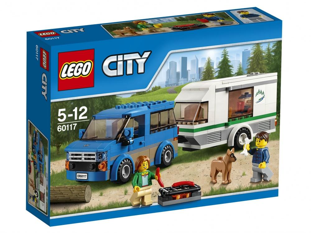 Конструктор Lego City 60117 Фургон и дом на колёсах lego lego city фургон и дом на колёсах