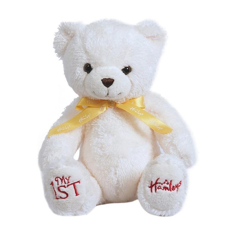 Игрушка плюшевая Мой первый медведь, 20 см.Hamleys Мой первый медведь, мягкий и очаровательный. Прекрасное дополнение коллекции медведей Hamleys. Коллекция супер мягких плюшевых медведей Hamleys созданы быть спутниками на всю жизнь и являются отличным подарком на долгую память. Замечательно подходят как для повседневных игр, так и для крепких объятий во время сна. Hamleys Мой первый медведь подходит для младенцев.<br>