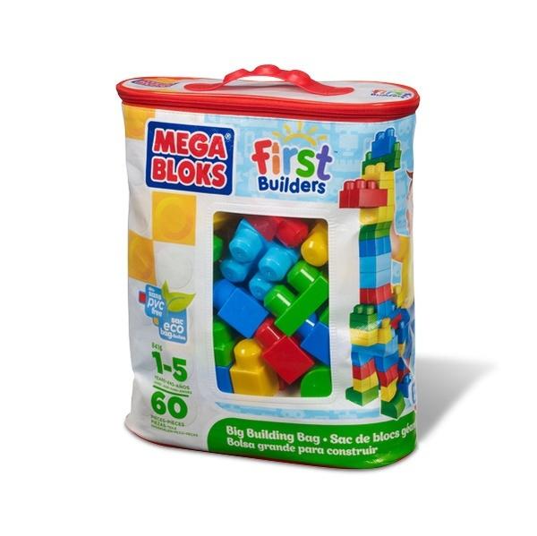 Конструктор Mega Bloks Сумка Эко, 60 деталей, в ассортименте (голубая/розовая)Игровой набор конструктора Mega Bloks для мальчиков или девочек.Крупные детали окрашены в нежные пастельные тона, что очень понравится маленьким строителям!Из кубиков можно строить замки, машинки, фигурки людей или лошадок и многое другое.Количество деталей: 60 шт. Внимание! Игрушка в ассортименте. При заказе необходимо указать желаемый цвет в поле комментарии<br>