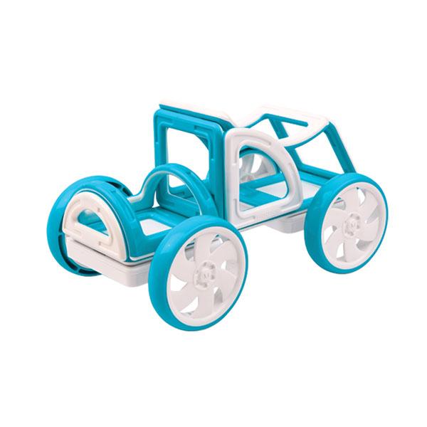 Конструктор магнитный Magformers My First Buggy, синийНабор «Багги Авто» из серии «Мой Первый Магформерс» отлично подойдет для начала знакомства с развивающим конструктором! Он включает в себя великолепно иллюстрированные карточки, которые познакомят Вас с принципами конструирования из Магформерс  и покажут, как  собрать разнообразные машинки Багги — для передвижения по песчаным прибрежным дюнам, для гонок по бездорожью или по пересеченной местности. Детали выполнены в ярких тонах: желтый, голубой, красный и розовый с одной стороны и белый цвет с другой стороны. Необычные приключения ждут с новым набором «Magformers My First Buggy Car Set» Набор «Magformers My First Buggy Car Set - Blue» присутствует в следующих категориях: Для малышей, Машины.<br>