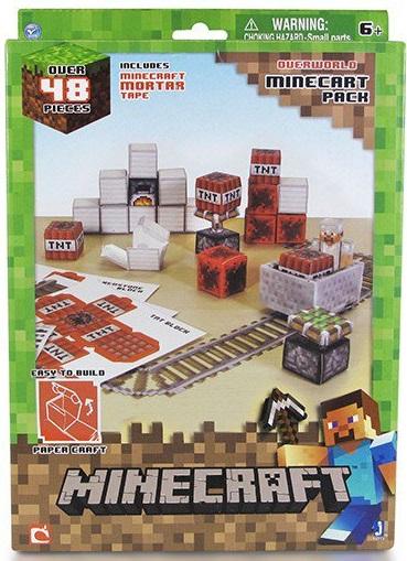 Бумажный конструктор Minecraft Вагонетка и ТНТ 48 деталейНабор Вагонетка и ТНТ, состоящий из 48 деталей. Используя ящики с опасной взрывчаткой вы сможете создать шахту, а проложив рельсы для вагонетки и включая шахтерские элементы, вы обустроите вашу шахту. Minecraft - за несколько последних лет превратилась в настоящую культовую компьютерную игру. Множество поклонников со всего мира, развивают свои миры, возводят необыкновенные кубические города и даже пытаются выжить находясь на грани в противостоянии против бесчисленных монстриков. Компания Jazwares специально для поклонников игры, выпускает необычный бумажный конструктор, помогая воссоздавать кубический мир Minecraft в реальной жизни из бумаги и картона. Все элементы сделаны из качественного и прочного пластика. Игрушка имеет яркий и эффектный дизайн, поэтому надолго заинтересует вашего ребенка и подарит ему много радости и счастья. Пополните свою коллекцию фигурок Майнкрафт Steeve и расскажите всем о своем увлечении.<br>