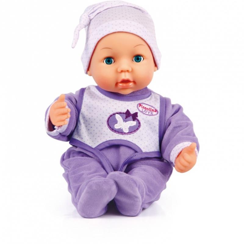 Моя любовь Пиколлина 38смМоя Любовь Пиколлина-Интерактивная кукла- 38 см с функцией плача и открывающимися-закрывающимися глазами.Напоите куклу водой из бутылочки и пожмите ей руку, она заплачет настоящими слезами.Кукла одета в фиолетовый комбинезон с подходящей по цвету шапочкой.Упаковка:коробка.Батарейки в комплекте.<br>