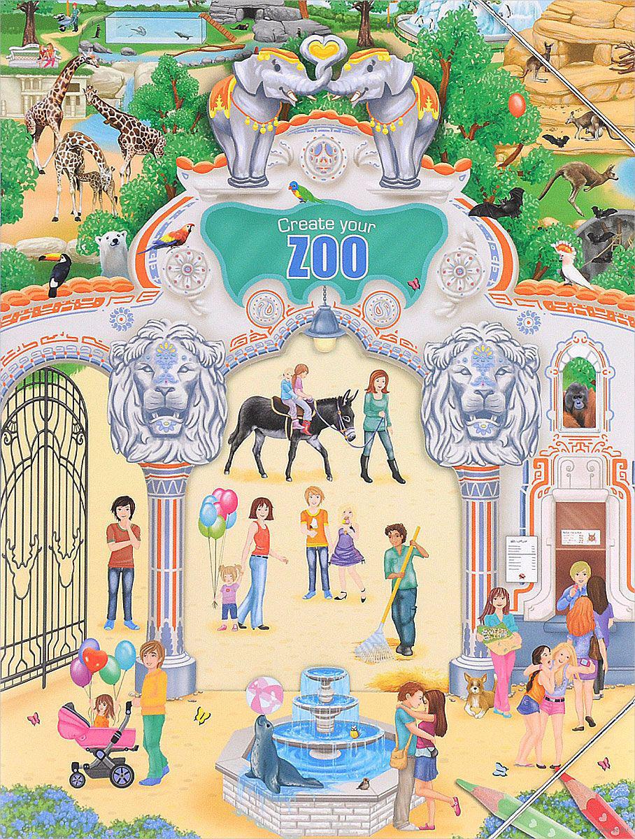 Creative Studio Создай свой Зоопарк альбом с наклейками
