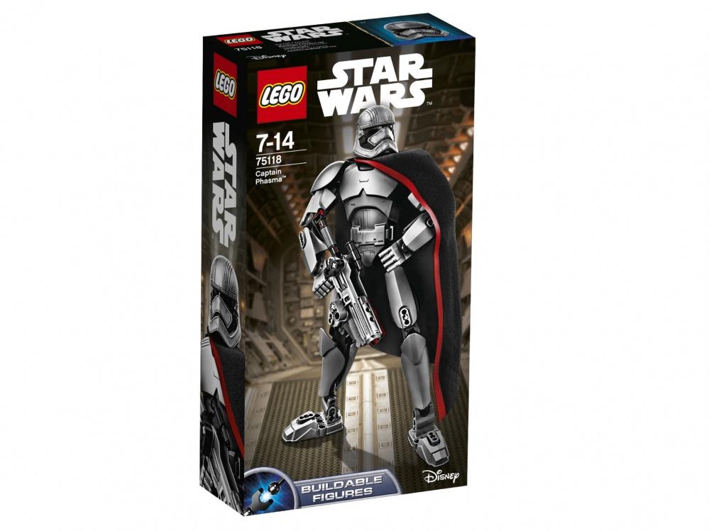 Конструктор Lego Star Wars Капитан ФазмаОтдай приказ о наступлении. Когда силы Повстанцев приблизятся к твоим позициям, стреляй из бластера или вступай в рукопашный бой с капитаном Фазма, одетой в зеркальную броню с крутым шлемом. У Повстанцев нет достойного противника для этого руководителя Первого Ордена!<br>