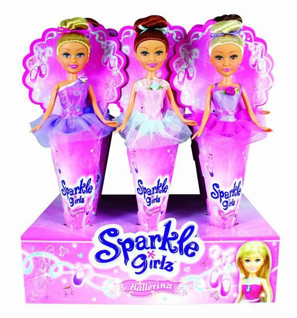 Кукла-балерина Sparkle Girlz, в рожке funville кукла sparkle girlz модница в рожке в ассортименте funville