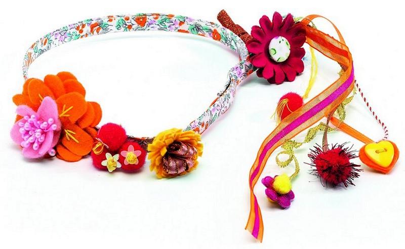 Повязка для волос Цветы riffi повязка для волос цвет коралловый