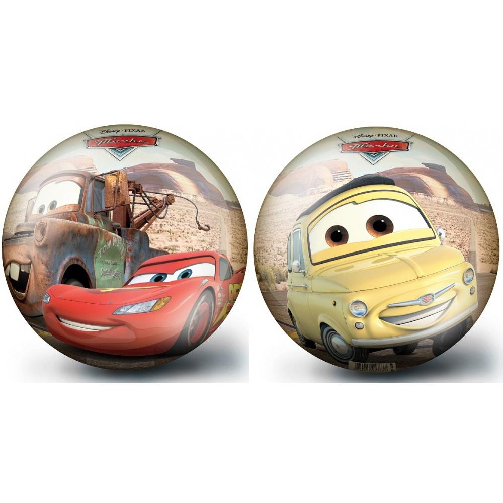 Мяч 23 см ТачкиМяч Тачки идеально подходит для активных игр на свежем воздухе. Изделие изготовлено из качественного и прочного материала, устойчивого к повреждениям. Яркий и красочный мяч, украшенный изображениями любимых персонажей мультфильма Cars, непременно понравится ребенку и принесет массу положительных эмоций.<br>