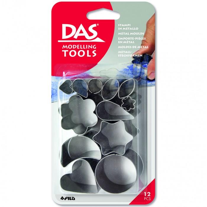DAS Metal Moulds Металлические формы 12шт, в блистереМеталлические формы для пасты DAS. 12 штук в комплекте.<br>