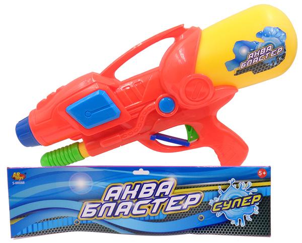 Водное оружие Аквабластер, 960 млАквабластер, пистолет для стрельбы водой на улице.Дальность стрельбы более 3-х метровРазмер упаковки 39х21,5х9,7см<br>