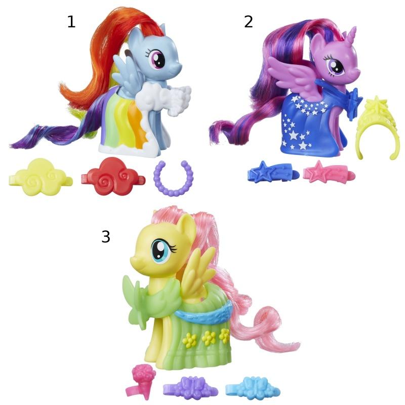 MLP Пони-модницыИгровой набор Пони-Модницы My Little Pony от Hasbro позволит представить любимую героиню мультика Дружба - это чудо! во всей красе: грядет Грандиозный бал Гала-концерт, куда приглашены только привилегированные обитатели Кантерлота, и каждая пони должна выглядеть на этом вечере просто блистательно!В наборе Runway Fashions Май Литл Пони имеются фигурка пони (свои длинные гриву и хвост лошадка уже уложила роскошными сияющими локонами), красивая попона, которая идеально подходит образу пони, и три тематических аксессуара, которые станут гармоничным завершением образа.Внимание! Товар представлен в ассортименте. Доступные виды:1. Пони-модница Рейнбоу Дэш (Rainbow Dash);2. Пони-модница Твайлайт Спаркл (Princess Twilight Sparkle);3. Пони-модница Флаттершай (Fluttershy).Цена указана за 1 набор. Номер желаемого набора указывайте в комментарии к заказу.<br>