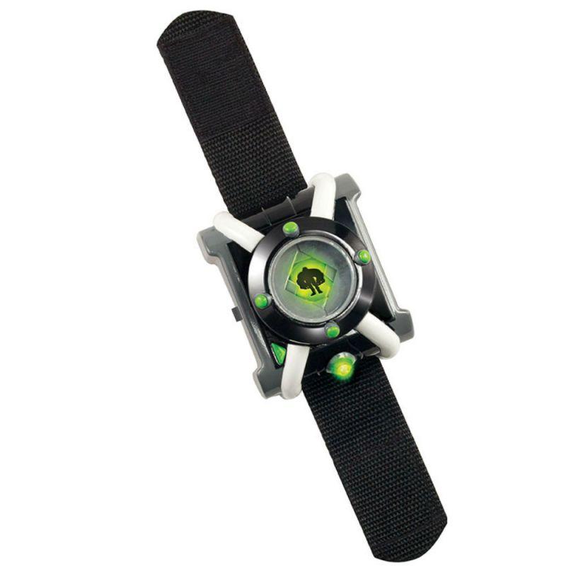 Детские наручные часы Бен 10 - Омнитрикс (свет, звук)Детские наручные часы Омнитрикс от бренда Playmates являются копией девайса, который использует герой мультсериала Бен 10. Часы оснащены специальным кольцом, вращение которого производит смену слайдов на циферблате. На этих слайдах изображены рисунки пришельцев, в которых Ben может превращаться. Активация того или иного логотипа пришельца сопровождается не только световыми эффектами, но индивидуальной презентационной мелодией, которая также звучит в мультфильме.Omnitrix оснащен сенсором движения, что позволяет ему включать тот или иной тип мерцания лампочек, в зависимости от положения часов в пространстве.<br>