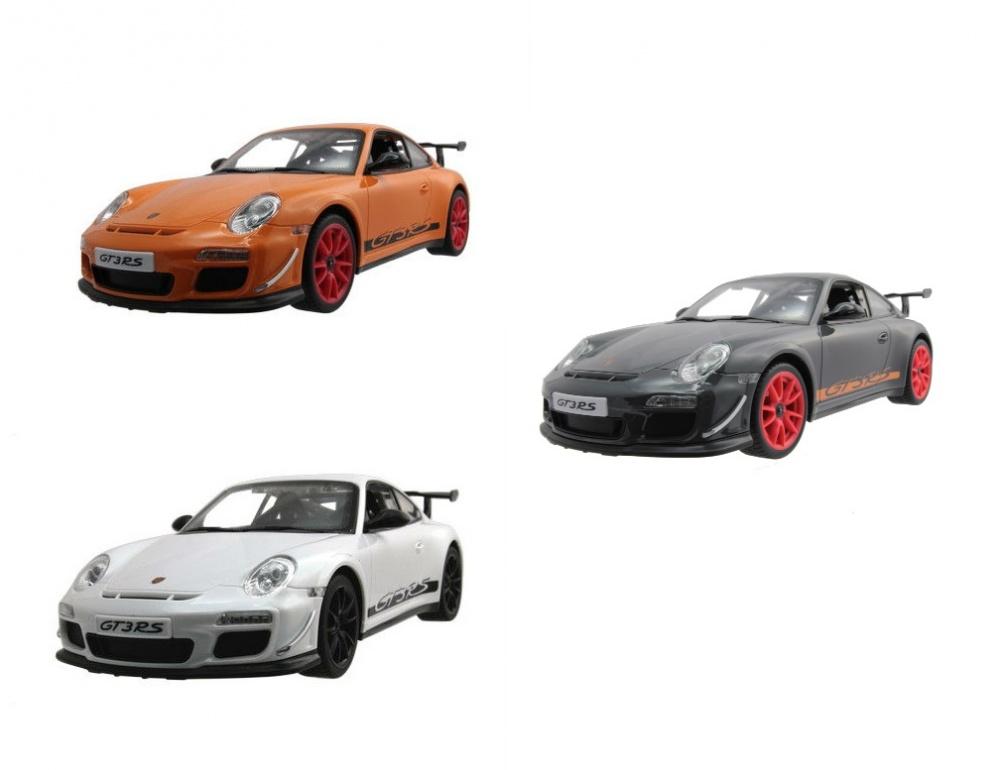 Машина р/у Porsche 911 GT3 RS (на бат.) 1:16Радиоуправляемая модель Porsche 911 GT3 RS выполнена по лицензии оригинального производителя, поэтому поражает своей натуралистичностью. Игры с радиоуправляемыми моделями очень полезны для детей, так как развивают мелкую и общую моторику, воображение, целеустремленность и навыки работы в команде.Внимание! Автомобиль в цветовом ассортименте. Желаемый цвет игрушки указывайте в комментарии к заказу.от 6 летСерия: PorscheДля мальчиковМодель: Porsche 911 GT3 RS.Цвет: оранжевый/белый/серый.Масштаб: 1:16.Комплектация: автомобиль, пульт управления, антенна, инструкция.Наличие батареек: не входят в комплект.Тип батареек: 6 x AA / LR6 1.5V (пальчиковые) для машины, 1 х 9V для пульта.Материалы: пластмасса, металл.Частота: 27, 40 и 49 МГц.Длина машинки: 30 см.<br>
