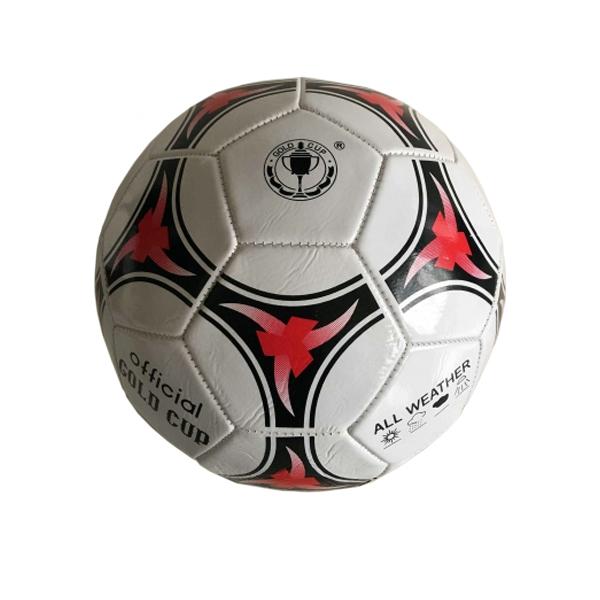 Футбольный мяч Gold Cup с сеткой и иглой, лакированный, двухслойный, р. 5Футбольный мяч Gold Cup произведен из двухслойного поливинилхлорида. Мяч пятого размера имеет лакированное покрытие. В комплекте с мячом имеется также игла для накачивания, сетка для удобства ношения мяча. Этот футбольный мяч рассчитан на регулярное использование как в помещении, так и на улице, он достаточно прочный, долго держит форму.<br>