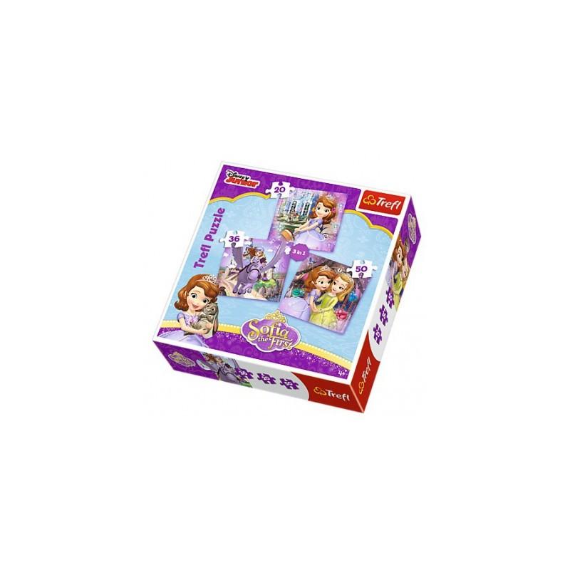 Купить Набор из 3 пазлов Disney Junior - София и ее друзья, 106 элементов