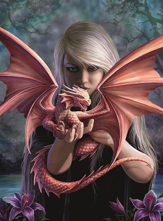 Пазл Девушка с драконом 500 штРазмер картинки 49*36 см Размер упаковки 33,5*23*4 см<br>