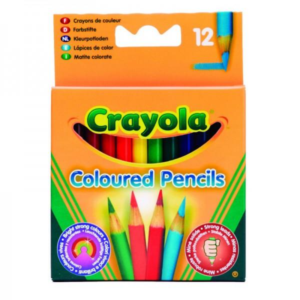 Карандаши цветные Crayola, короткие, 12 шт.