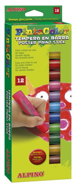 Восковые темперные карандаши Pintacolor, в пластиковом корпусе, 12 цветовНабор восковых темперных карандашей в пластиковом корпусе от Pintacolor Alpino - отличный вариант для подарка маленькому художнику. Безопасны для самых маленьких, произведены из экологически чистого материала.<br>