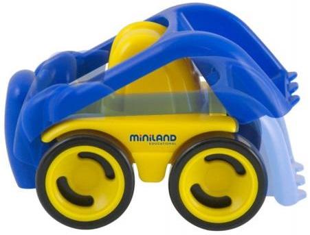 Мини-машина Miniland БульдозерМини-машинка Бульдозер от Miniland изготовленна из высококачественного пластика.Подходит для игры в помещении или на открытом воздухе. Игрушка полезна для развития навыков координации рук и глаз, тонких движений и восприятия пространственных отношений.<br>