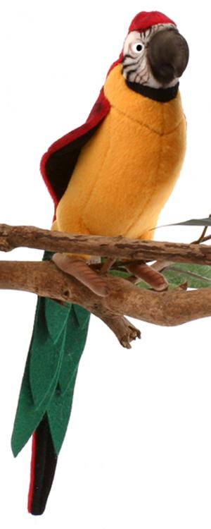 Желтый попугай, 37 см