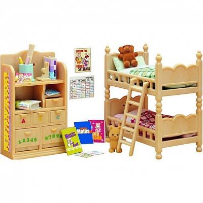 Набор Sylvanian Families. Детская комната матрасы  подушки и одеяла