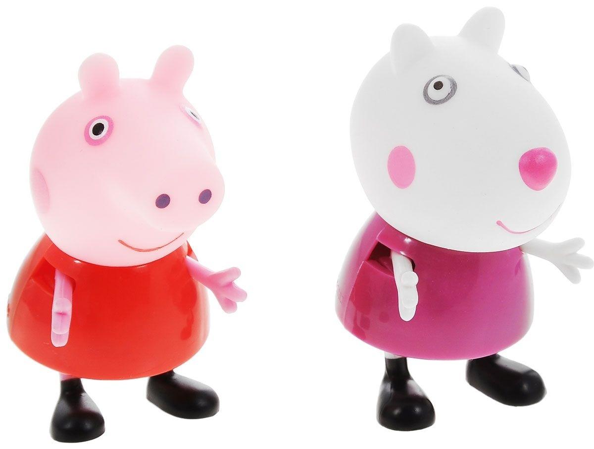 Игровой набор «Пеппа и Сьюзи»Игровой набор Peppa Pig Пеппа и Сьюзи непременно понравится вашему ребенку и займет его внимание надолго. Набор включает две фигурки: Пеппы и Сьюзи. Ручки и ножки фигурок двигаются. Ваш ребенок будет с удовольствием играть с этим набором, придумывая различные истории и составляя собственные сюжеты.Пеппа - симпатичная маленькая свинка, которая живет вместе со своими Мамой Свинкой, Папой Свином и маленьким братиком Джорджем. Пеппа обожает играть, наряжаться, бывать в новых местах и заводить новые знакомства, но самое любимое занятие Пеппы - прыгать в грязных лужах. Герои мультфильма наделены частично качествами людей, частично качествами животных. Они ходят в одежде, живут в домах, ездят на машинах, ходят на работу и в театр. Дети отмечают дни рождения, играют в парках, катаются на катках и занимаются всем, что присуще людям. В то же время свинки постоянно хрюкают, овечки блеют, а кошки мяукают. Игровой набор Peppa Pig Пеппа и Сьюзи станет отличным подарком поклонникам мультфильма!<br>