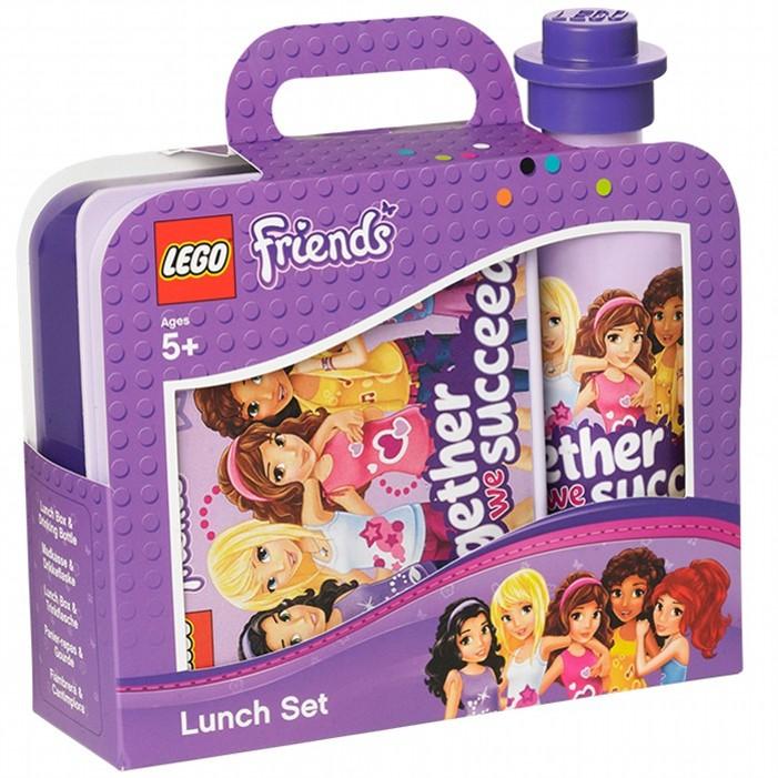 Набор Lego Friends Ланч бокс и бутылочкаПредставляем вашему вниманию потрясающий набор (ланч-бокс и бутылочка). Вы сможете положить ребенку еду для перекуса, а также налить любимый напиток. И можете быть спокойны, что ребенок сыт. Яркие, качественные аксессуары понравятся вашему ребенку, и в школу он будет ходить с удовольствием.<br>