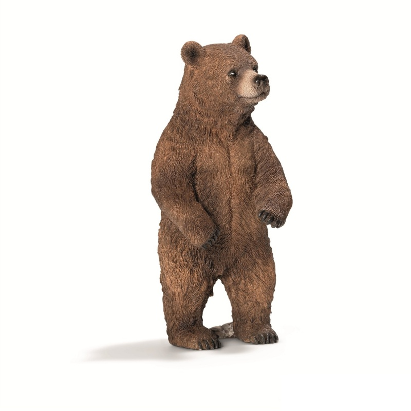 Медведь Гризли, самкаЗабавный обитатель североамериканский долинФигурка с изображением медведя Гризли – хороший подарок как мальчику, так и девочке. Этот симпатичный зверь никак не напоминает кровожадного хищника. Напротив, он будет защищать и оберегать вашего малыша днем и ночью. Статуэтка имеет четкую прорисовку каждой детали, благодаря чему выглядит реалистично и натурально. Благодаря небольшому весу ею можно играться, как обычной игрушкой, а также брать с собой на прогулки.Оригинальный предмет интерьераСтатуэтка в виде медведя Гризли идеально дополнит детскую комнату. Ее можно поставить на стол, на комод, на книжную полку или на прикроватную тумбу. Особого ухода игрушка не требует, достаточно протереть ее от пыли сухой тряпкой. Не рекомендуется мыть под проточной водой с использованием чистящих средств.Заказ и оплатаКупить фигурку медведя Гризли  можно у нас на сайте либо в розничных магазинах Hamleys. Также возможно оформить курьерскую доставку в любой город России. Оплатить покупку в Москве, области и Санкт-Петербурге можно при помощи наличного и безналичного расчета, для жителей других городов предусмотрен наложенный платеж.<br>