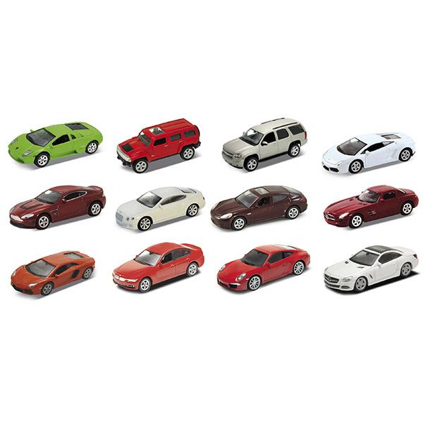 Модель машины 1:60, в ассортименте, желтая упаковкаМодель Welly - это точная копия одной из марки автомобилей, выполненная в масштабе 1:60. В ассортименте представлены такие модели, как: MERCEDES-BENZ 12 SL500, BMW 335i, PORSCHE 911 (991) CARRERA S, LAMBORGHINI AVENTADOR LP700-4,  LAMBORGHINI MURCIELAGO, LAMBORGHINI GALLARDO LP560-4, MERCEDES-BENZ SLS AMG, ASTON MARTIN V12 VANTAGE, BENTLEY CONTINENTAL SUPERSPORTS, PORSCHE PANAMERA S, CHEVROLET TAHOE и HUMMBER H3Машинки всемирно известного бренда Welly известны подробной детализацией и отменным качеством исполнения. Используемые материалы прочные и долговечные, поэтому игрушка прослужит вам очень долго. Также стоит отметить, что модели Велли могут стать не только интересной, качественной игрушкой для детей, но и ценным экземпляром в автомобильной коллекции взрослых.Обратите внимание, модель представлена в цветовом ассортименте, при оформлении заказа на сайте выбранный вариант в поставке не гарантирован.<br>