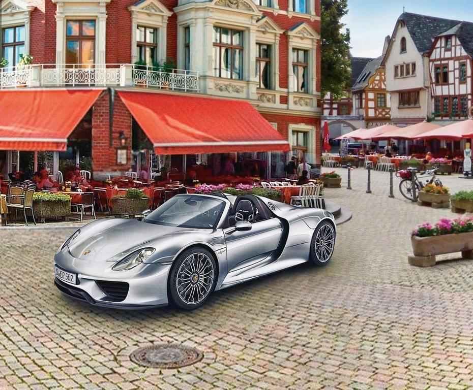 Сборная модель Revell Автомобиль Porsche 918 Spyder rastar 1 24 porsche 918 spyder серебро 71400