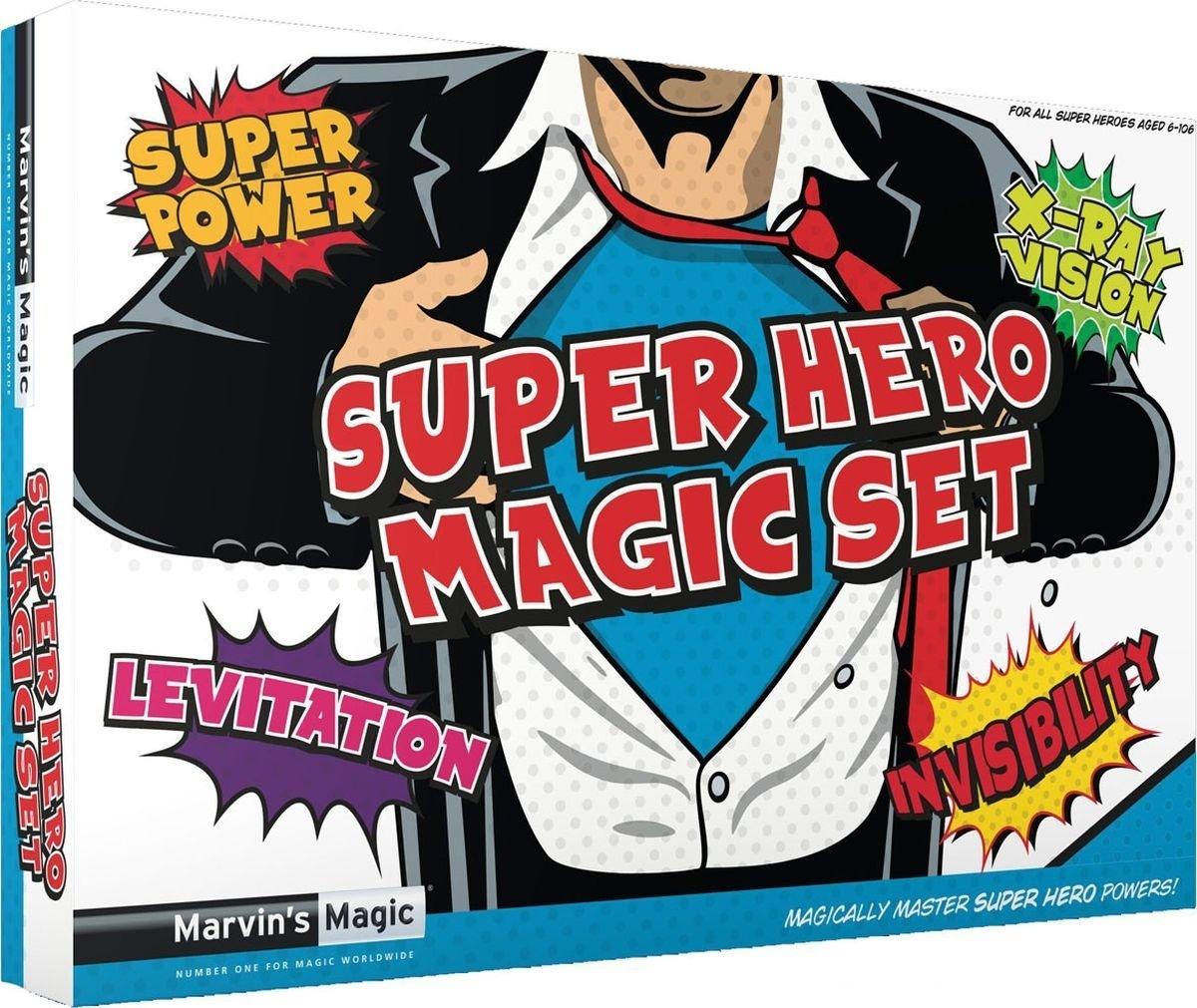 Фокусы Marvins iMagic Super Hero Magic SetВы когда-нибудь хотели стать супергероем? Невероятные способности, такие как, левитация, управление светом, быстрое переодевание и инфракрасное зрение, позволят вам испытать супер силы. Размер упаковки: 26 х 39 х 5 см. Рекомендуемый возраст 8+<br>