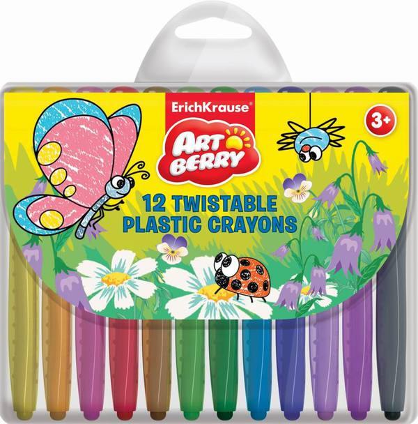 Купить со скидкой Мелки пластиковые с поворотным механизмом треульные Artberry TWIST 12цв./12шт.