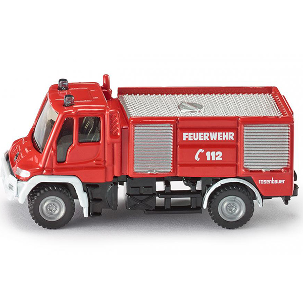 Пожарная машинаМасштабная модель SIKU (СИКУ) 1068 Пожарная машина Unimog 1:87, выпускавшейся в 70-е годы 20 века. Модель окрашена в традиционный красный цвет, на борта машины нанесены отличительные знаки. Корпус выполнен из металла, лобовое и боковые стёкла из прозрачной тонированной пластмассы, колёса выполнены из пластика и вращаются, можно катать. Сзади есть сцепное устройство, можно использовать с прицепом SIKU (СИКУ). Дополнительная информация: -Материал: металл с элементами пластмассы -Размер игрушки: 7,7 x 2,5 x 3,5 см -Материал: металл, пластик, резина Благодаря высокому качеству исполнения и сохранению высокой детализации, эта игрушка будет интересна не только детям, но и взрослым коллекционерам.<br>