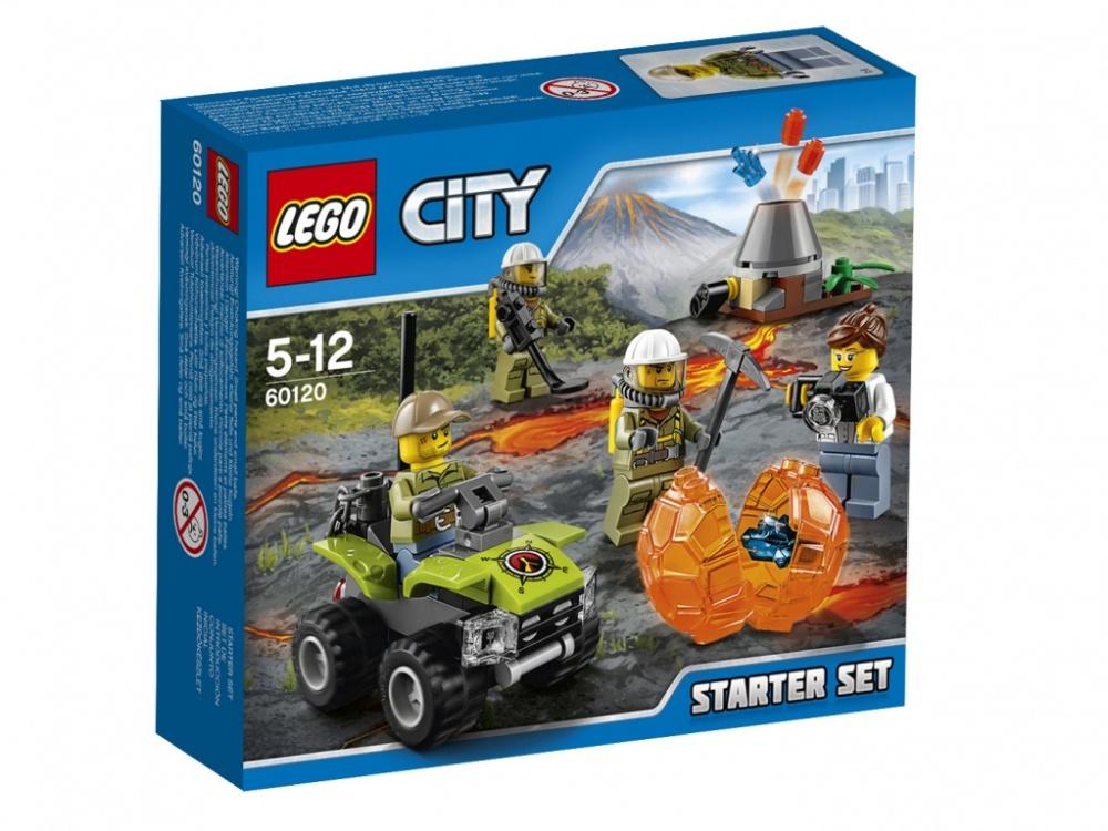 Конструктор Lego City Набор для начинающих - Исследователи ВулкановОтправляйся вместе с командой исследователей и ученых-вулканологов, чтобы изучить действующий вулкан! Загрузи вездеход всем необходимым и не забудь фотоаппарат. Смотри, извержение вулкана началось! Узнай, что находится внутри вулканического камня. Хватай кирку! А вдруг именно ты совершишь новое научное открытие!<br>