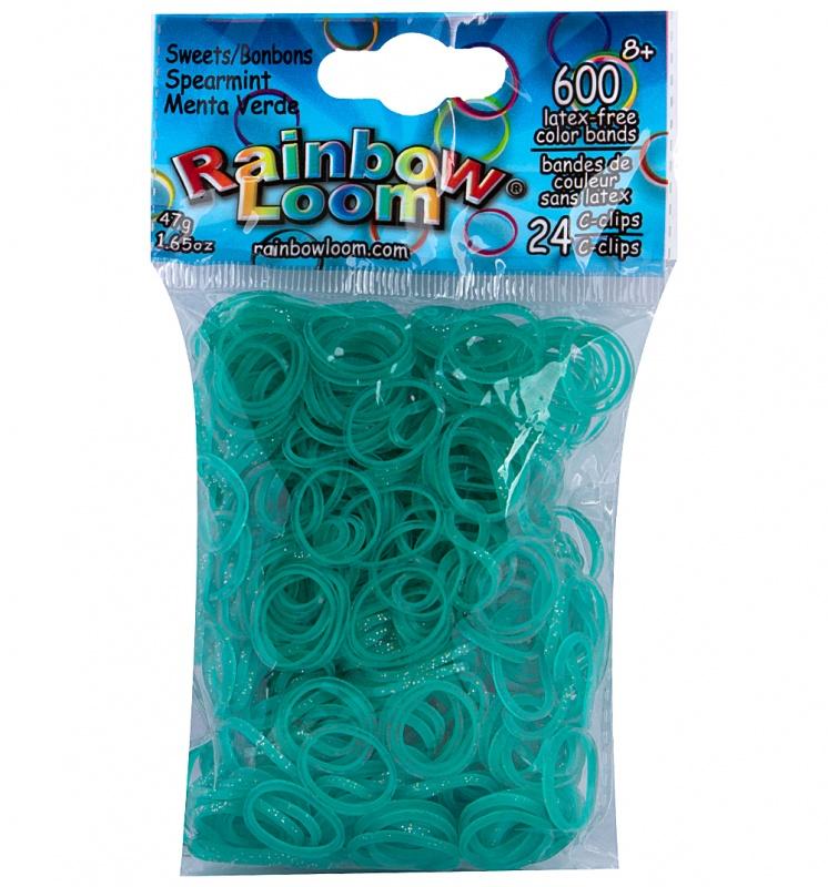 Резиночки - Мятный ЛеденцыРезиночки для плетения браслетов, коллекция Леденцы<br>