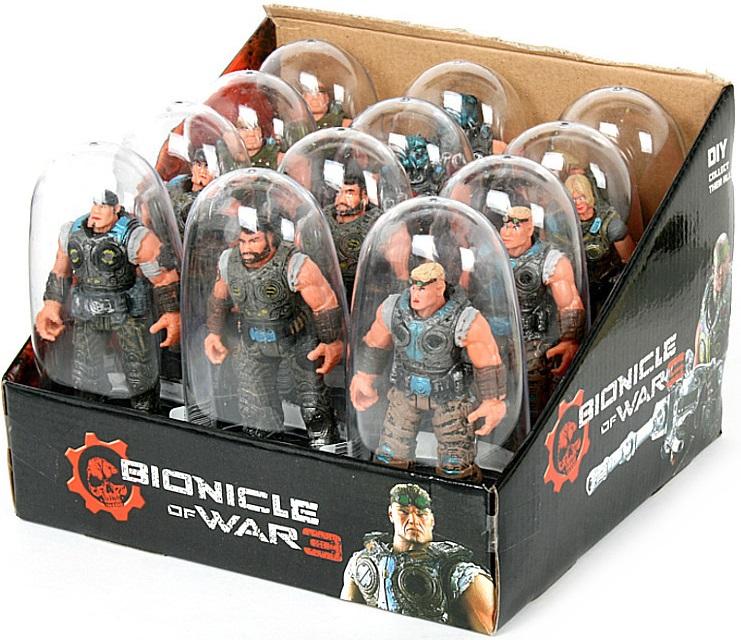 Фигурка Playline Bionicle of war, в ассортименте, бокс 12 шт.Забавные фигурки-солдатики очень нравятся детям, ведь их привлекают яркие краски, которые являются главной чертой дизайна изделий.Фигурка Bionicle of war в ассортименте, бокс 12шт — беспроигрышный вариант подарка на любой праздник. Такая модель в детской коллекции игрушек станет изюминкой, на фоне других «лотов» будет выделяться за счет своего оформления<br>