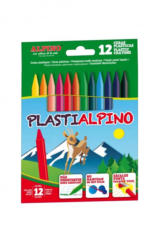Пластиковые цветные карандаши PLASTIALPINO, 12 цв.Пластиковые цветные карандаши Alpino Plasti обладают тонким штрихом и большим ресурсом использования, отлично рисуют на бумаге, ватмане, картоне, глиняных, деревянных и других шероховатых поверхностях. Легко затачиваются, не слоятся, устойчивы к ломке и стираются обычным ластиком. Не пачкают руки и легко смываются с большинства тканей.<br>