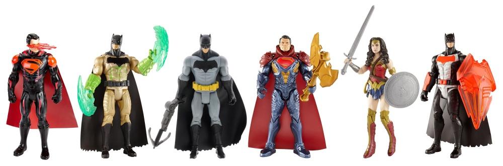 Фигурки персонажей фильма Бэтмен против Супермена 6 дюймовНабор фигурок вселенной DC в ассортименте<br>