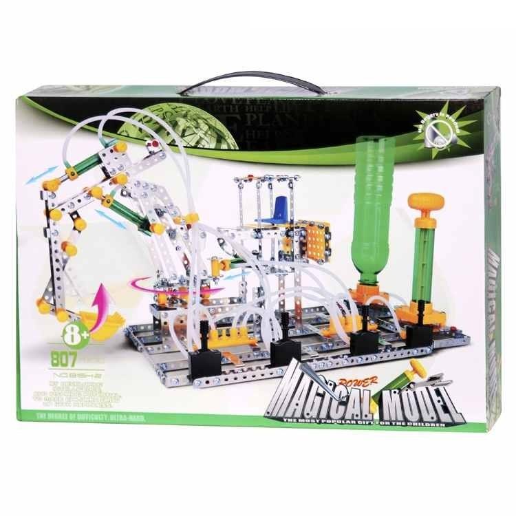 Конструктор металлический Погрузчик с захватом, пневматический механизм, 807 деталейПредставьте! Вы самостоятельно, следуя подробной инструкции, соберёте конструктор, который способен двигаться!Собирая конструктор, ребёнок развивает усидчивость, терпение и воображение.<br>