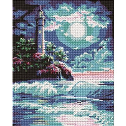 Картина со стразами Маяк, 23 цветаСоздание мозаики – это захватывающий и увлекательный творческий процесс, занятие для души и отдых от повседневных забот. С помощью этого набора вы можете создать настоящий рукотворный шедевр. Готовая картина станет прекрасным украшением вашего дома.Комплектация:- холст из натурального хлопка с клеевым слоем;- пинцет;- емкость для фольгированных элементов;- карандаш-липучка;- клей;- крепеж для подвешивания картины;- разноцветные стразы диаметром 2,8 мм.<br>
