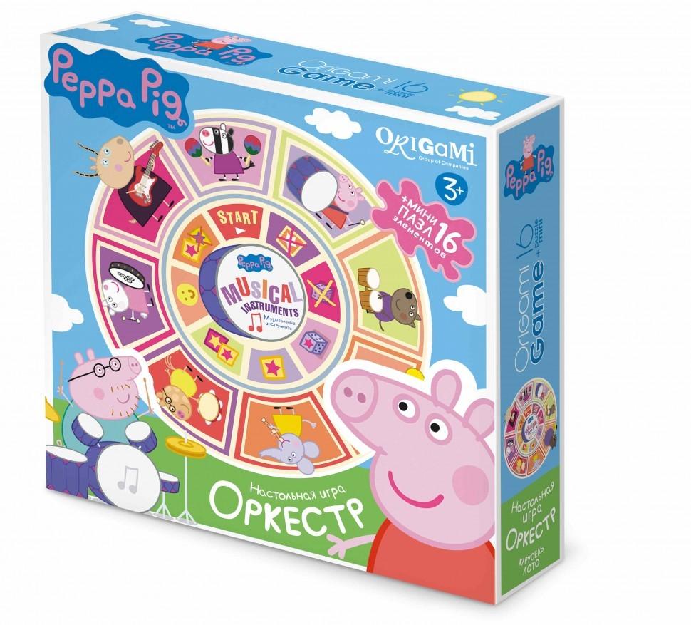 Peppa Pig.Наст.игра Карусель-лото+пазл16А.Оркестр.01605  peppa pig наст игра карусель лото пазл16а оркестр
