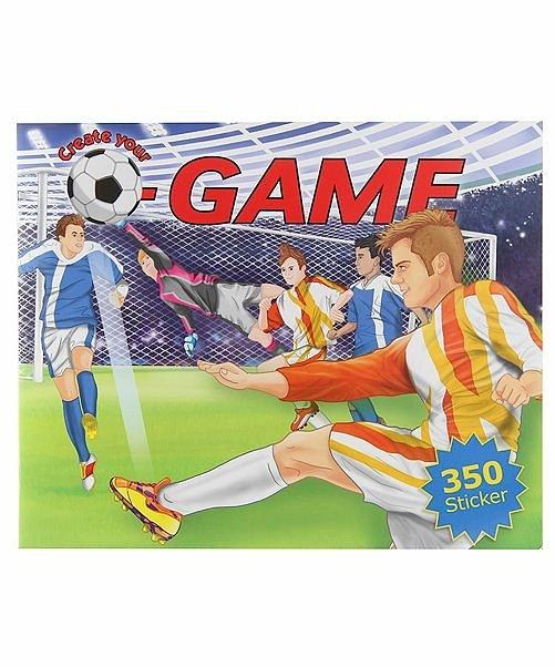 Альбом с наклейками Создай свой футбольный мячАльбом с наклейками Depesche Creative Studio Создай свой футбольный матч с более чем 350 наклейками! Дополните футбольные поля игроками, судьями, болельщиками!<br>